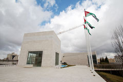 Yasser Arafat 's tomb. The outside view of Yasser Arafat's tomb, Ramallah, Palestine Autonomous Areas. The photo was taken in February, 2013, 2 moths after the Stock Photography