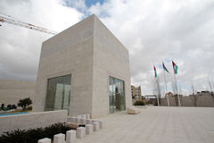 Yasser Arafat 's tomb. The outside view of Yasser Arafat's tomb, Ramallah, Palestine Autonomous Areas. The photo was taken in February, 2013, 2 moths after the Stock Photos