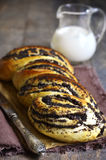 Yast roll with poppy seed. Stock Images