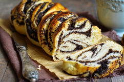 Yast roll with poppy seed. Royalty Free Stock Image