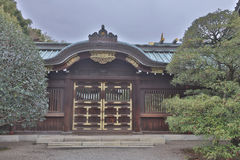 Yasukuni Shrine was found for enshrining. Help build the foundation for a peaceful Japan Royalty Free Stock Photography