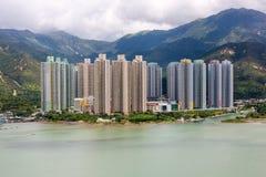 Yat Tung Estate, Lantau ö Arkivbild