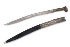 Yataghan (sabre, épée) de janizary turc Photo stock