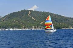 yatch ветра sailing Стоковые Фото