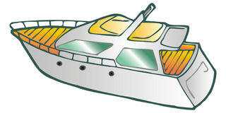 Yatch. Art illustration: a yatch (isolated Stock Image