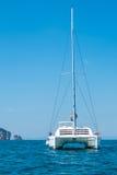 Yatch in beautiful ocean Royalty Free Stock Image