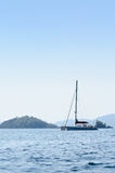 Yatch in the blue sea in Thailand Royalty Free Stock Photos