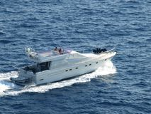 Yatch In The Ligure Sea Royalty Free Stock Photos