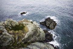 Yatch przewieziony odgórny widok z morzem Obraz Royalty Free
