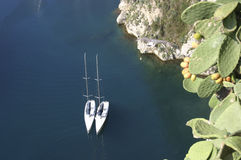 Yatch and sea Royalty Free Stock Photos
