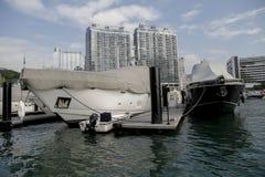 Yatchs på Aberdeen, Hong Kong Island Fotografering för Bildbyråer