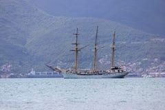 Yate antiguo en el mar adriático Fotografía de archivo libre de regalías