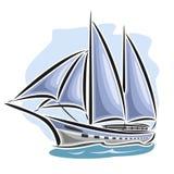 Yate de la navegación del logotipo del vector Fotografía de archivo
