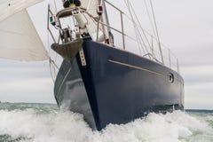Yate del barco de navegación Imagen de archivo libre de regalías