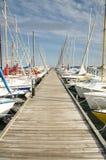 Yate del puerto Foto de archivo libre de regalías