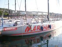 Yate del puerto deportivo de San Rocco imágenes de archivo libres de regalías