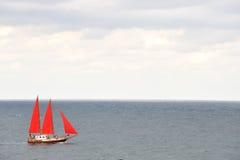Yate en el mar Fotografía de archivo