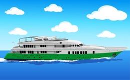 Yate en el mar stock de ilustración