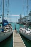 Yate en el puerto de Auckland fotos de archivo