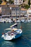 Yate - islas de Grecia Imágenes de archivo libres de regalías