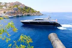 Yate - islas de Grecia Imagen de archivo
