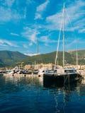 Yate Oporto Montenegro Área de la élite de Tivat Imagenes de archivo
