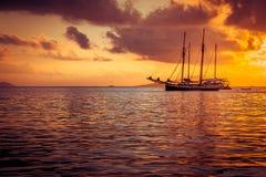 Yate recreativo en el Océano Índico Imagenes de archivo