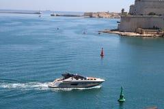 Yate. Valletta, Malta Imágenes de archivo libres de regalías