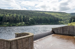 Yateholme Reservoir overflow Royalty Free Stock Photo