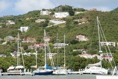 Yates de la isla de Tortola Fotografía de archivo libre de regalías