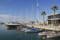 Yates de la navegación en el puerto deportivo de Herzliya Fotografía de archivo