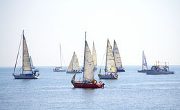 Yates de la navegación de Cor Caroli de la regata Fotografía de archivo