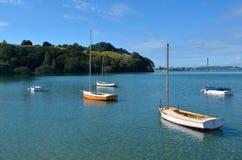 Yates de madera viejos - Nueva Zelanda Fotografía de archivo