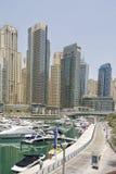 Yates en el puerto de Dubai, emiratos árabes unidos Imagen de archivo