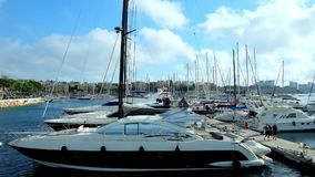 Yates en el puerto de La Valeta, Malta metrajes
