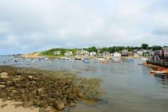 Yates en el puerto de Rockport, Rockport, mA, los E.E.U.U. imagenes de archivo