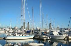 Yates en el puerto deportivo Gold Coast de Southport Foto de archivo