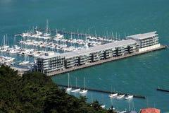 Yates en el puerto deportivo, Wellington, Nueva Zelanda Fotos de archivo