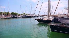 Yates en el puerto, Palma de Mallorca, isla de Mallorca, España almacen de video