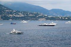 Yates en Monte Carlo, Mónaco Imagen de archivo libre de regalías