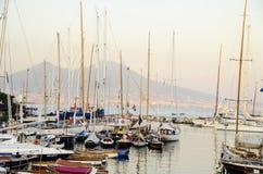 Yates en Nápoles Imagen de archivo libre de regalías