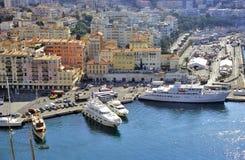 Yates en Niza puerto Imágenes de archivo libres de regalías