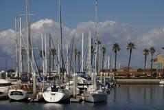 Yates en Redondo Beach Fotos de archivo libres de regalías