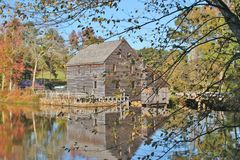 Yates Mill in Raleigh, NC stock photo
