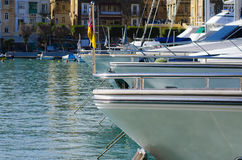Yates, puerto deportivo de Cottonera, Malta Foto de archivo libre de regalías