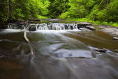 Yatesville Forest Cascade. In New York stock photography