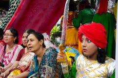 Yatra de Jagganath Rath em Kolkata, Bengal ocidental fotografia de stock royalty free