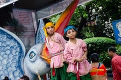 Yatra de Jagganath Rath em Kolkata, Bengal ocidental fotos de stock royalty free