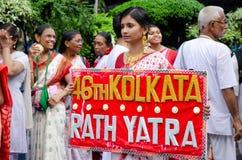 Yatra de Jagganath Rath em Kolkata, Bengal ocidental fotos de stock