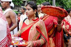 Yatra de Jagganath Rath em Kolkata, Bengal ocidental imagens de stock